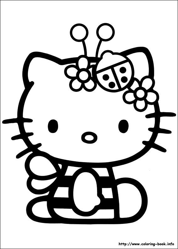 Hello Kitty Kleurplaat 52