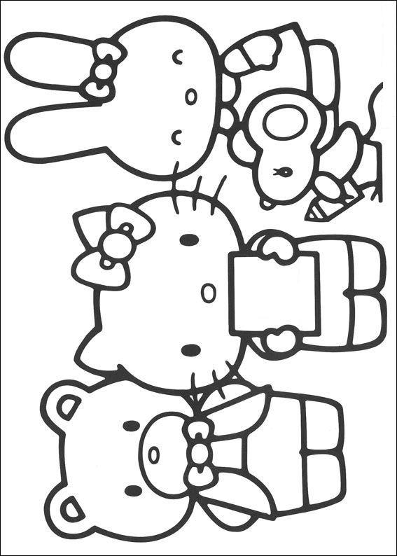 Hello Kitty Kleurplaat 21