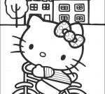 Hello Kitty Kleurplaat 23
